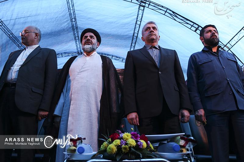 گزارش تصویری/ آیین طرح آبرسانی بستان به پایانه مرزی چذابه با حضور وزیر نیرو و مسئولان استانی در بستان
