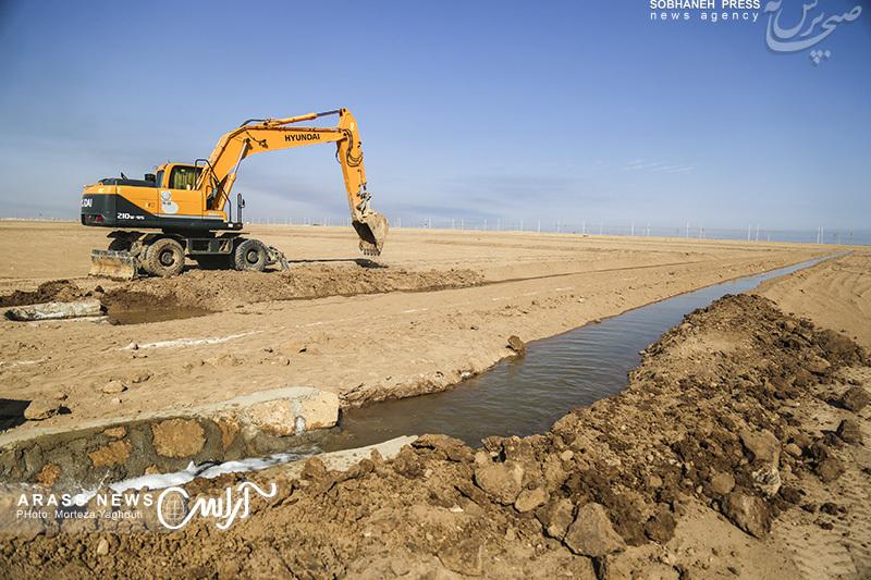 گزارش تصویری/ بازدید مشاور وزیر در طرح 550 هزار هکتاری از پروژه شلمچه2